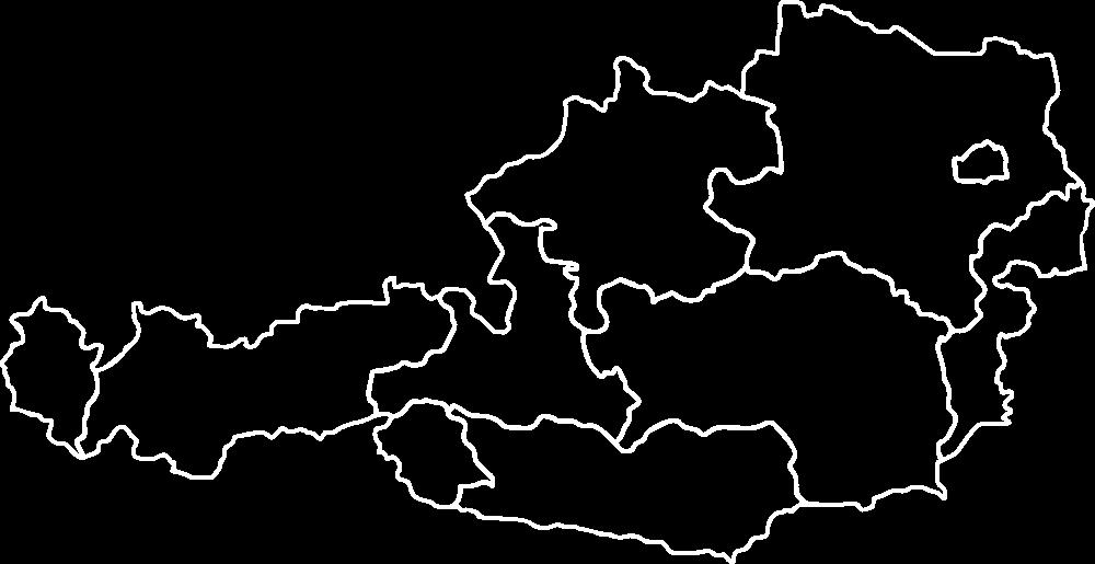 Österreich Karte mit historischen Städten