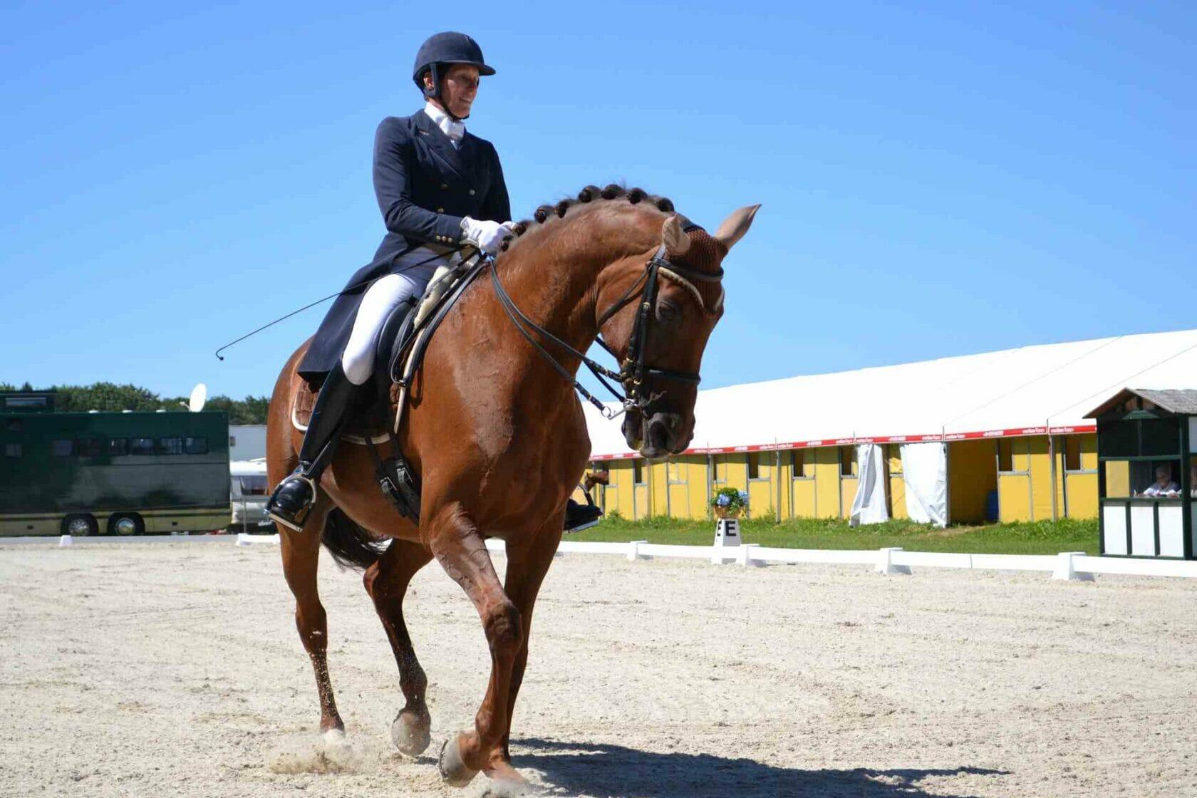Christine Zoller, RC Hofinger auf Wega beim S Prix St. Georg Dressur-Bewerb