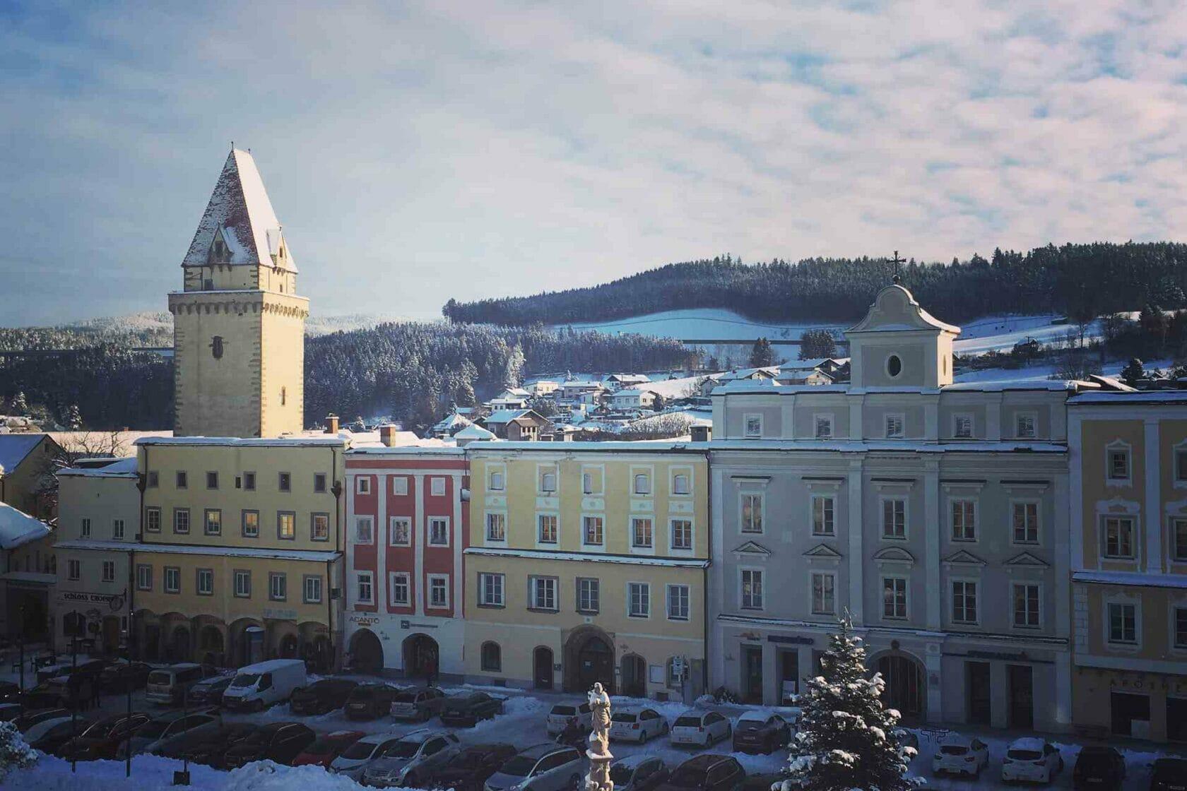 Winter Hauptplatz in Freistadt