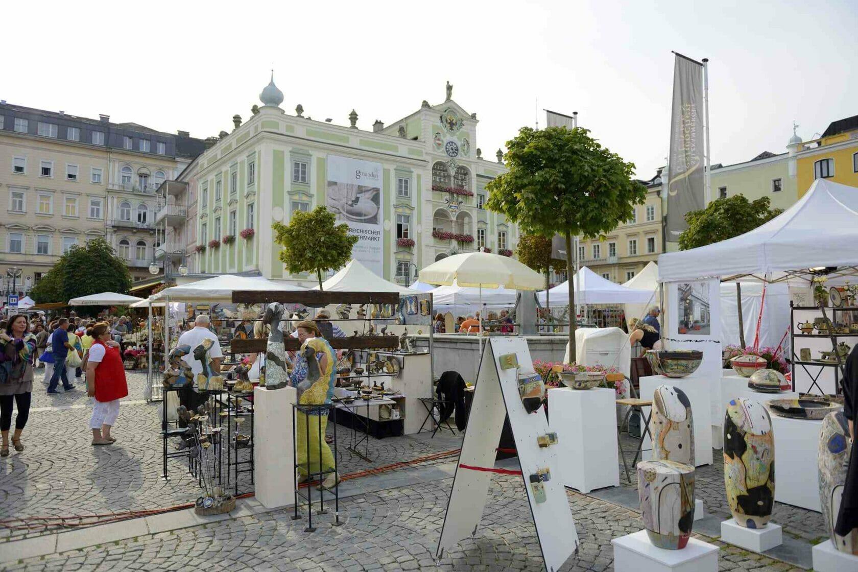 Töpfermarkt in Gmunden
