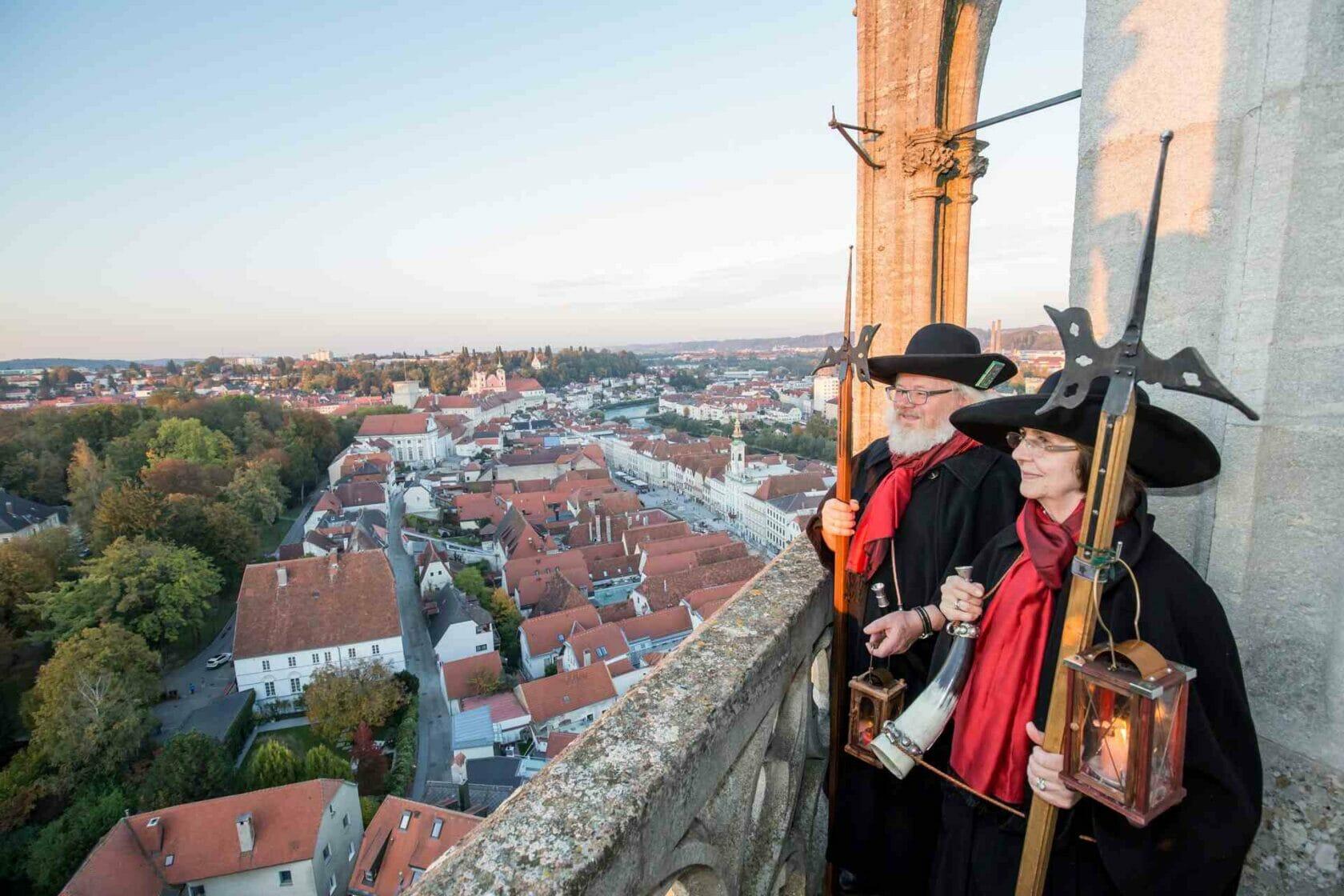 Nachtwächter Stadtpfarrkirchenturm in Steyr