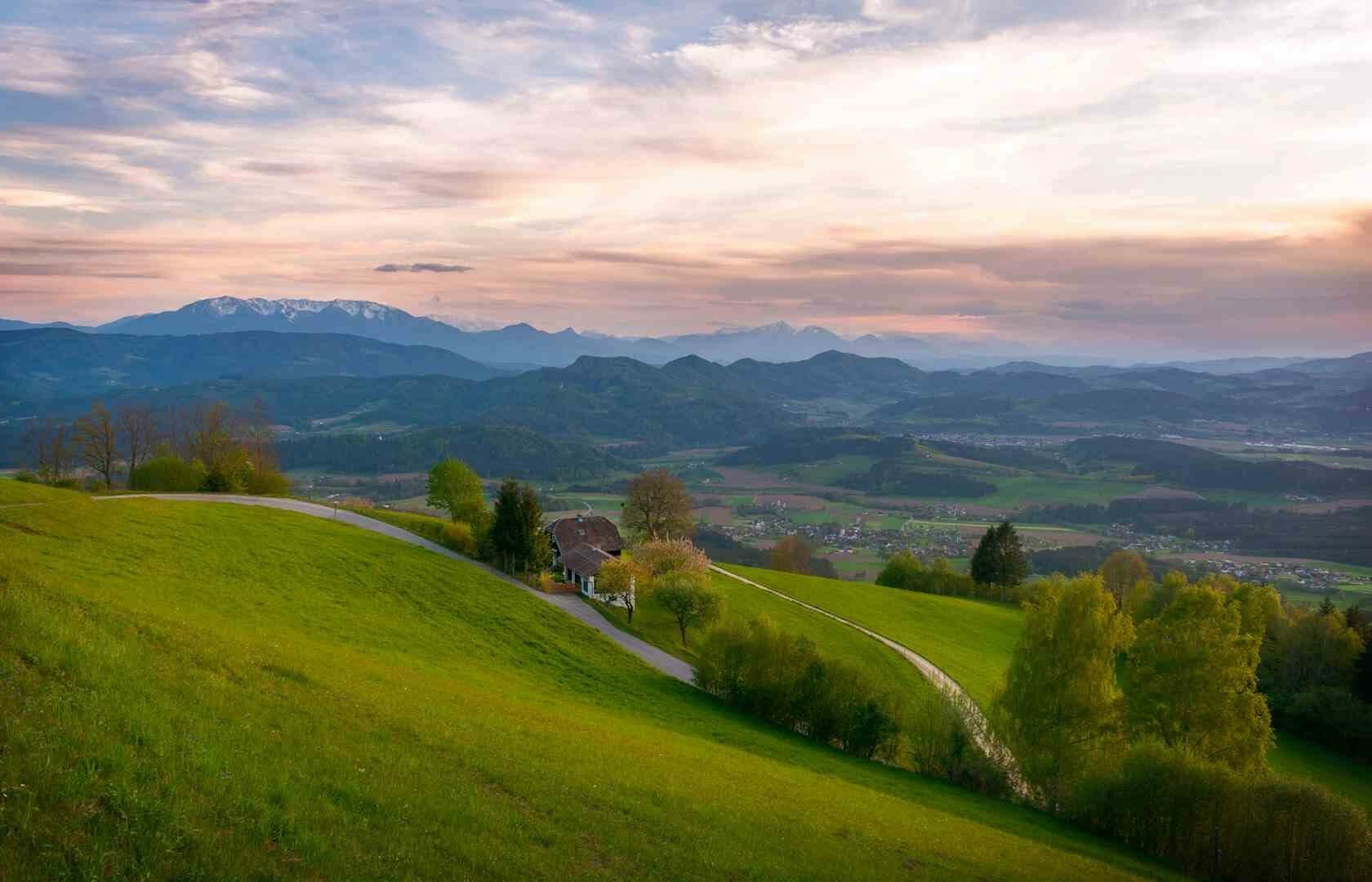 Landschaft von Wolfsberg